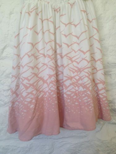 Ladies Pink & White Bird Print Summer Dress - Small - Now Selling! Click through to go to eBay auction.