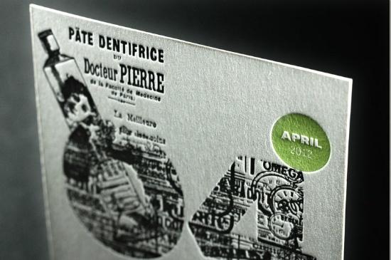 Le 2012 Letterpress Calendar de Fabien Barral ( Graphic Exchange)