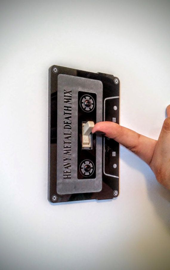 Light Switch Cover  Cassette Tape Switch Plate by UnderdogPress