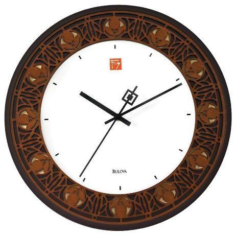 """Bulova Nathan Moore 11 3/4"""" Round Wall Clock -"""