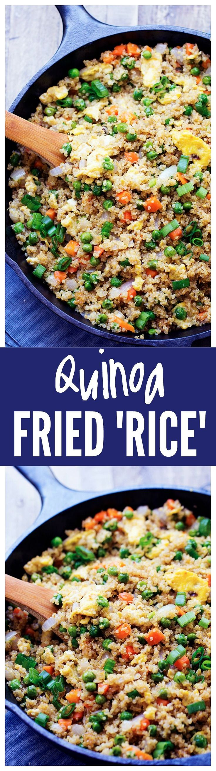 This Quinoa Fried Rice is Better than Takeout and SO much better for you!