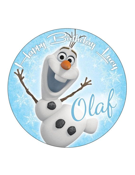 Edible Cake Cupcake Topper Decoration Image Frozen by CakersWorld