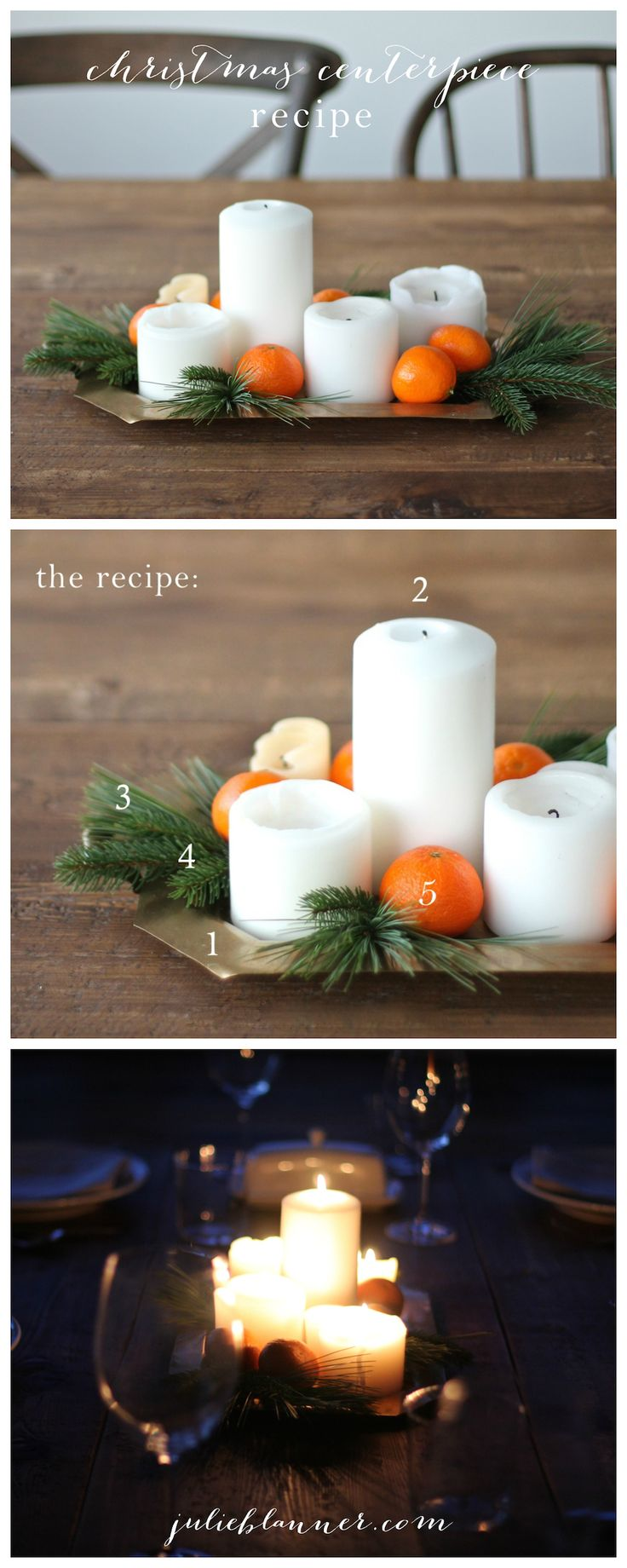 Learn how to make a Christmas centerpiece with things you already have with this easy step-by-step tutorial for beginners!