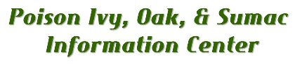 Poison Ivy, Oak and Sumac Information Center