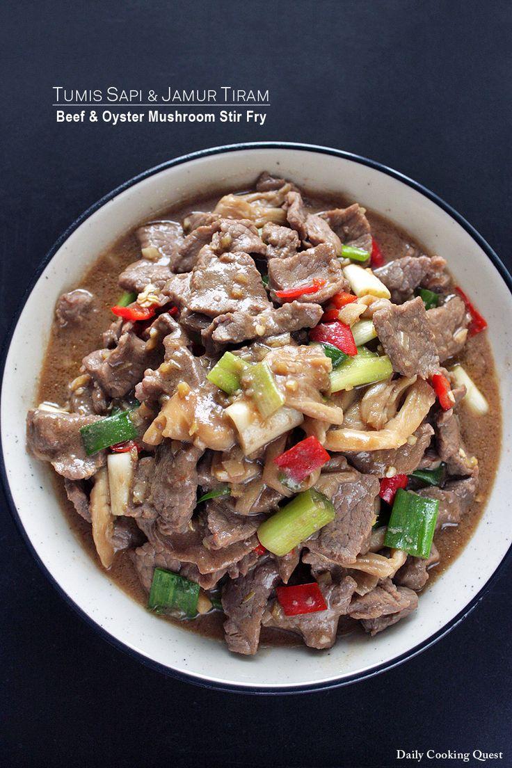 Tumis Sapi dan Jamur Tiram – Beef and Oyster Mushroom Stir Fry