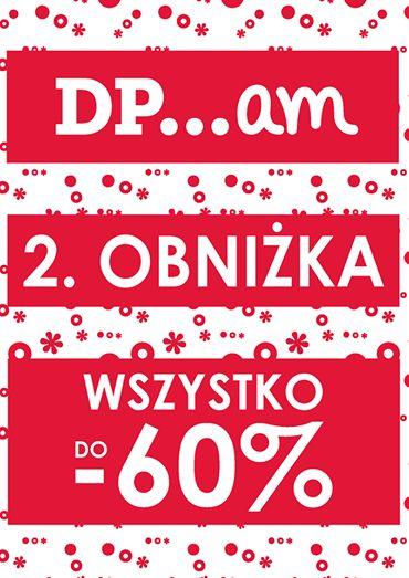 na www.dpam.pl i w sklepach stacjonarnych Galeria Mokotów i Manufaktura Łódź trwa wyprzedaż, a od dzisiaj do odwołania aż do -60% taniej! Zapraszamy!