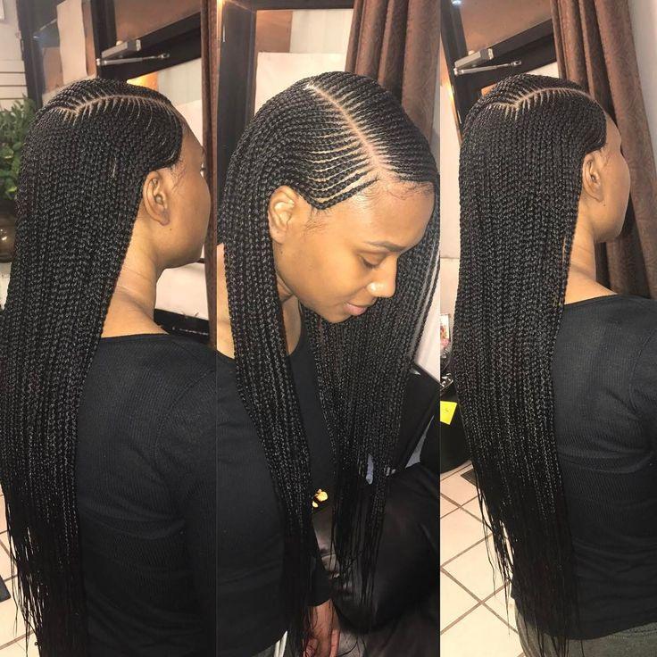 """141 Likes, 7 Comments - Queen Bee Hair Salon (@queenbeehairsalon) on Instagram: """"#phillysalon #phillybraider #hairbyqueenbee #braids #sidebraid #lemonade #lemonadebraids…"""""""