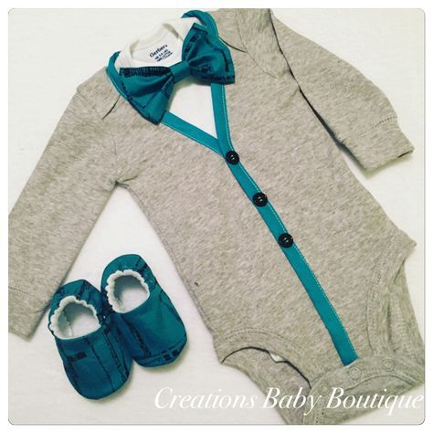 Baby boy cardigan onesies , bow tie and shoes set , Easter outfit , baby boy outfit , baby boy clothes set by CreationsBabyB on Etsy https://www.etsy.com/listing/274425338/baby-boy-cardigan-onesies-bow-tie-and