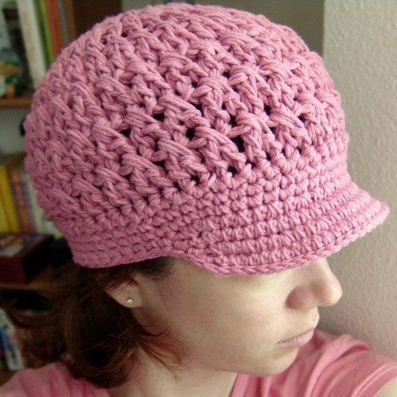 PDF Crochet Pattern Breezy Brimmed Beanie hat by ...