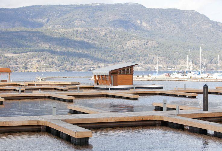 Accoya® modified wood used for Kelowna's Downtown Marina in Canada. #accoya #wood