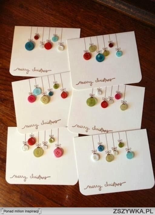 Christmas Cards using buttons