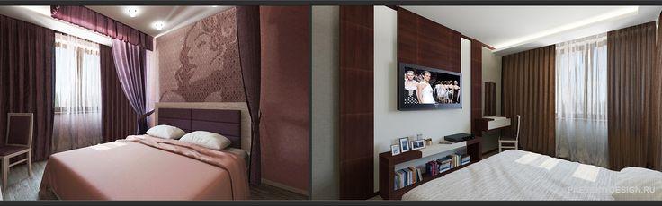 Современное оформление спальни в квартире