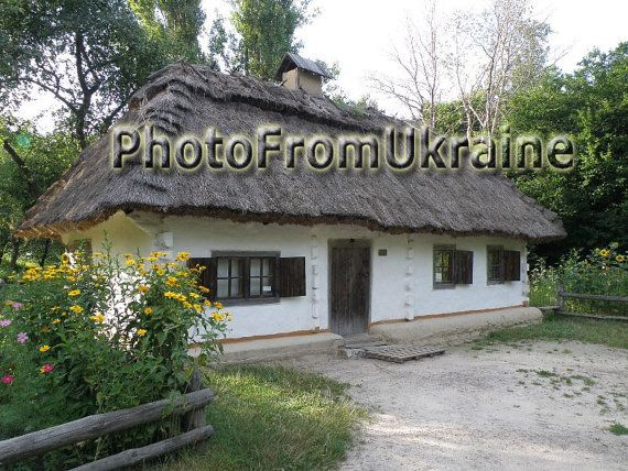 An ancient Ukrainian village house from 19 by PhotoFromUkraine