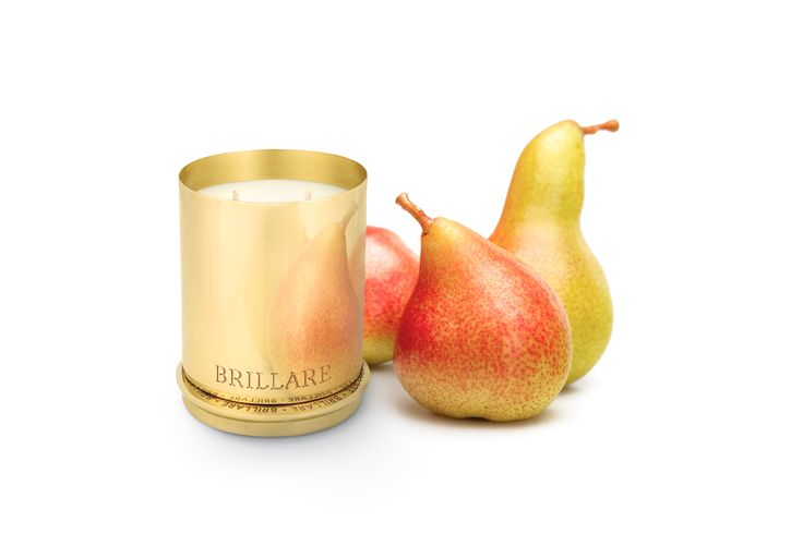 Pure brass luxury candles  Fragrance - Brandied Pear