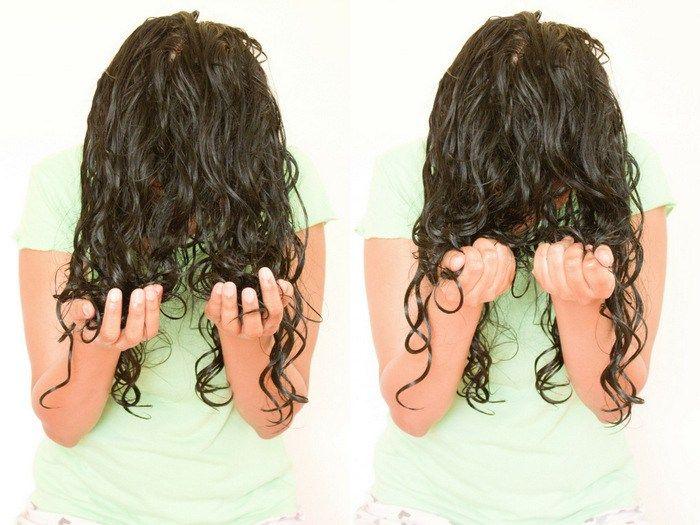 scrunch curly hair