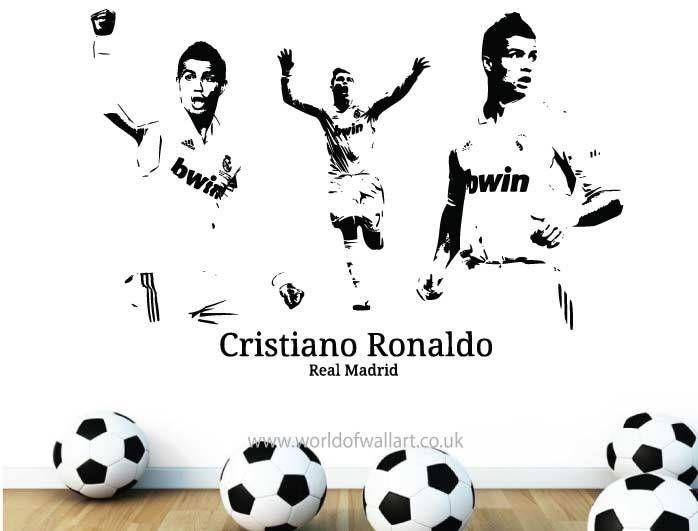 World Of Wall Art - Cristiano Ronaldo Football Wall sticker, £9.99 (http://www.worldofwallart.co.uk/cristiano-ronaldo-football-wall-sticker/)