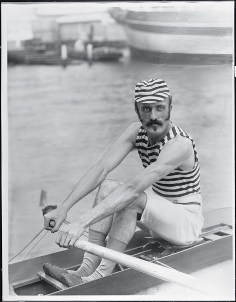 Frank Senior, sculler. In the late 1800s and early 1900s, professional rowing and sculling were extremely popular spectator sports. Crowds in their tens of thousands lined the courses and large sums were gambled on the results. Senior would have been a celebrity sports star of his day.   Images of Australia:  the Tyrrell Collection of photographs of Australia's history
