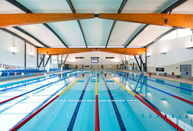 Our pool the first and only indoor 50 metre swimming pool in Surrey. Its meticulous design and development has enabled us to offer a truly state-of-the-art functional pool facility.  Swimming pool features include: •8 x 2.5metres wide swimming lanes •Transversable boom (ability to separate pool to create 2 x 25m pools) •Moveable floor (0 – 2 metres) •Wet-side changing village •Low chlorine UV water treatment system http://www.surreysportspark.co.uk/facilities/swimming/
