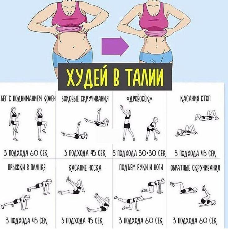 Картинки упражнения на талию