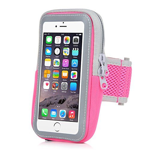 iPhone 6 Armband,iPhone 6S Sports Armband- Badalink Running Cell Phone Holder Case Arm Band Strap With Zipper Pouch Mobile Exercise Workout for iPhone 6 6S iPod Touch - Rose Pink - http://our-shopping-store.com/cellphones-and-accessories-products.asp