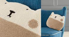 Le doudou chat bicolore au point jerseyTout doux et câlin, ce coussin chat est tricoté dans un fil cachemire, à découvrir les explications dupull layetteau point jersey.