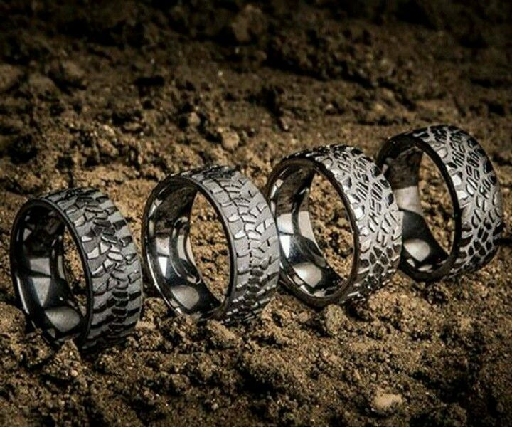 wedding ring for your husband - Mud Tire Wedding Rings