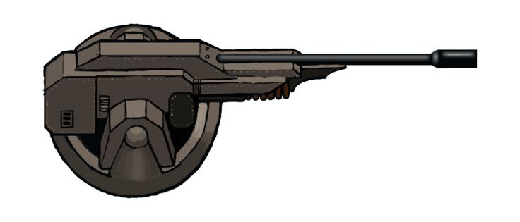 Flechette Turret, #conceptart from Corp Wars: The Siege by @Kybernesis #GameDev #CorpWars