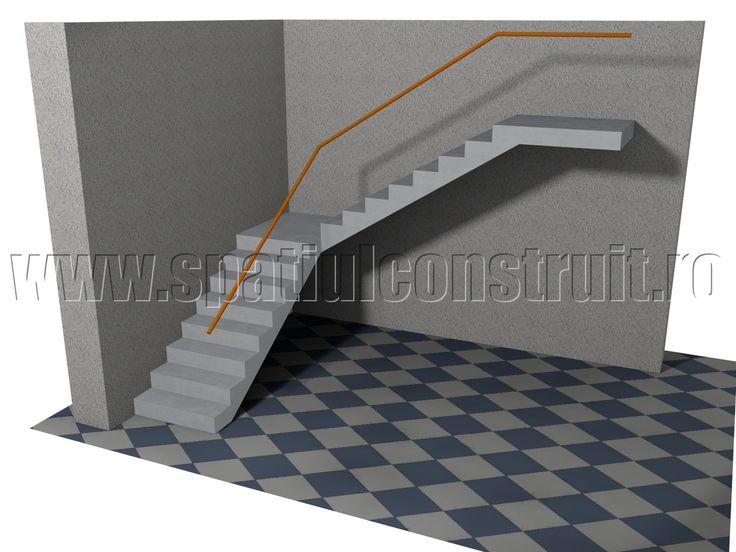 Staircases: general concepts & classifications/ Scari: notiuni generale, clasificari >> Quarter landing staircase/ Scara cu doua rampe la 90 de grade, cu podest intermediar