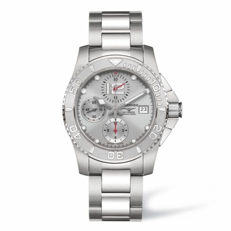 L36734766 Ανδρικός αυτόματος χρονογράφος LONGINES HydroConquest με μπρασελέ & ασημί καντράν | Ρολόγια ΛΟΝΖΙΝ - Watches LONGINES @Χαλάνδρι #hydroconquest #chronograph #longines #ρολόι