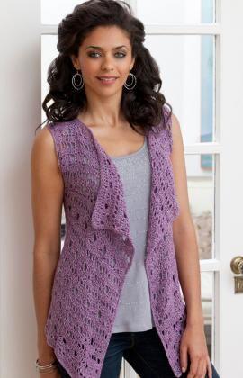Drapey Crochet Vest Pattern