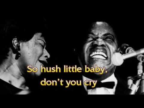 If you don't love this song... I don't even know what to say. This song is the best hting that has ever happened to music. ▶ Ella Fitzgerald  Louis Armstrong - Summertime - with lyric - YouTube