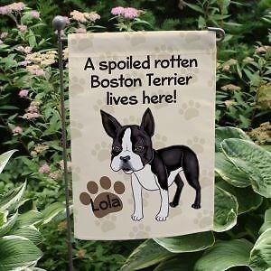 Boston Terrier Personalized Garden Flag