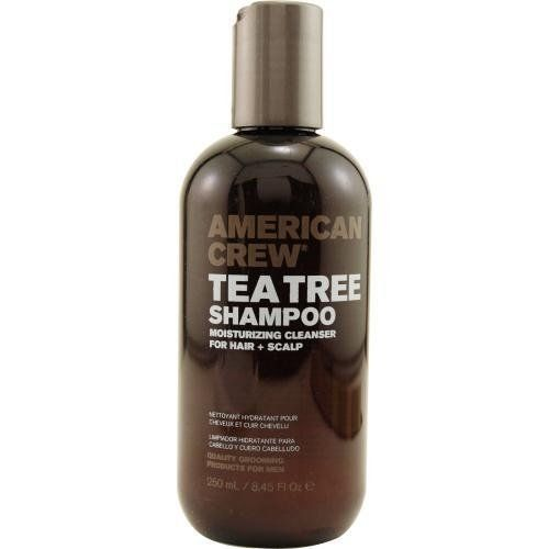 American Crew Tea Tree Shampoo 8.45 oz. by AMERICAN CREW. $9.23. Hair is restored and conditioned. Highest Quality Grooming Products For Men.. Using a blend of herbs and natural oils, Tea Tree Shampoo cleanses and treats both scalp and hair.. Moisturizing cleanser for hair and scalp.. Tea Tree Shampoo Moisturizing Cleanser for Hair and Scalp.  Using a blend of herbs and natural oils, Tea Tree cleanses and treats both scalp and hair. Hair is restored and conditioned.