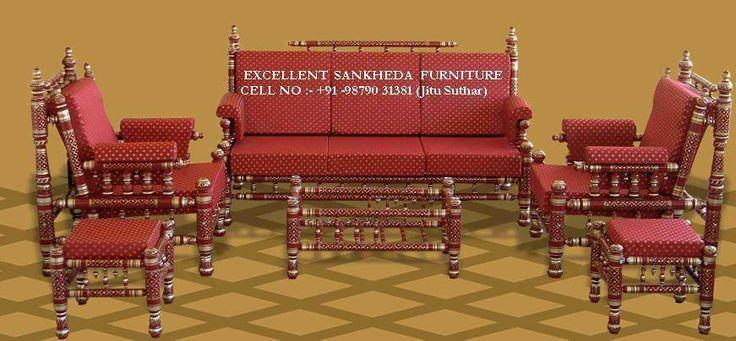 Royal Sofa Set ( red & gold )