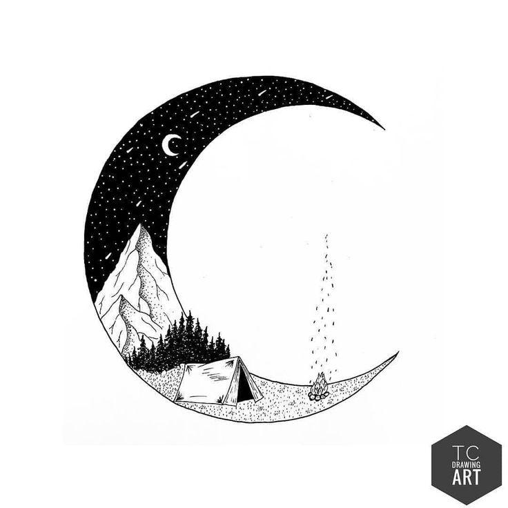 Рисунок полумесяца простой