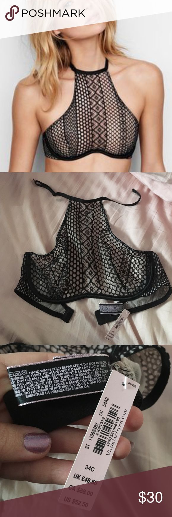 NWT Very Sexy Unlined Bra 34C, NWT, perfect condition Very Sexy After Dark Unlined High-Neck bra from Victoria's Secret! This is SOLD OUT in stores!  Victoria's Secret Intimates & Sleepwear Bras