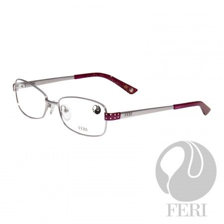 FERI - Capri Red - Optical - FERI Optical glasses are manufactured in Italy - Acetate optical glasses - Frame height: 33mm - Lens width: 55mm - Overall width of frame: 126mm - Bridge width: 17mm - Embellished with silver coloured metal, sparkle acetate and clear stones - Incredibly unique styling will turn heads *FERI Optical glasses DO NOT come with prescription lenses. Please take the frames to your Optician to have your custom prescription lens installed.
