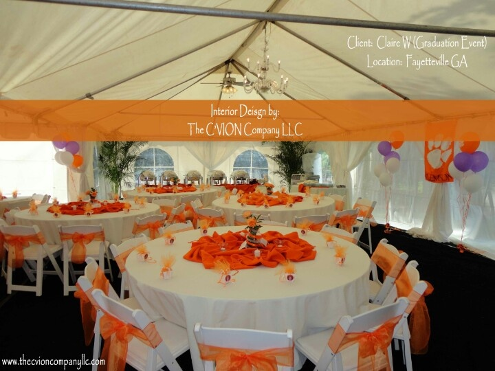 High School Graduation To Clemson University Event Design.#eventdecor,  #events