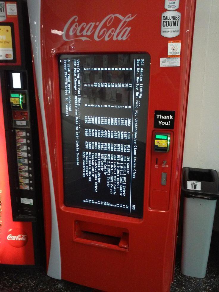 This coke machine has been having problems all week #bsod #pbsod