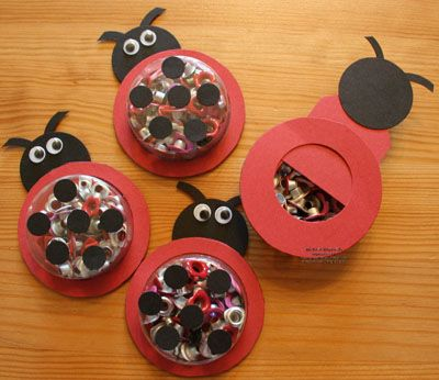 Stampin' Up!  Treat Holder  Michele Reynolds  Ladybug, cute!