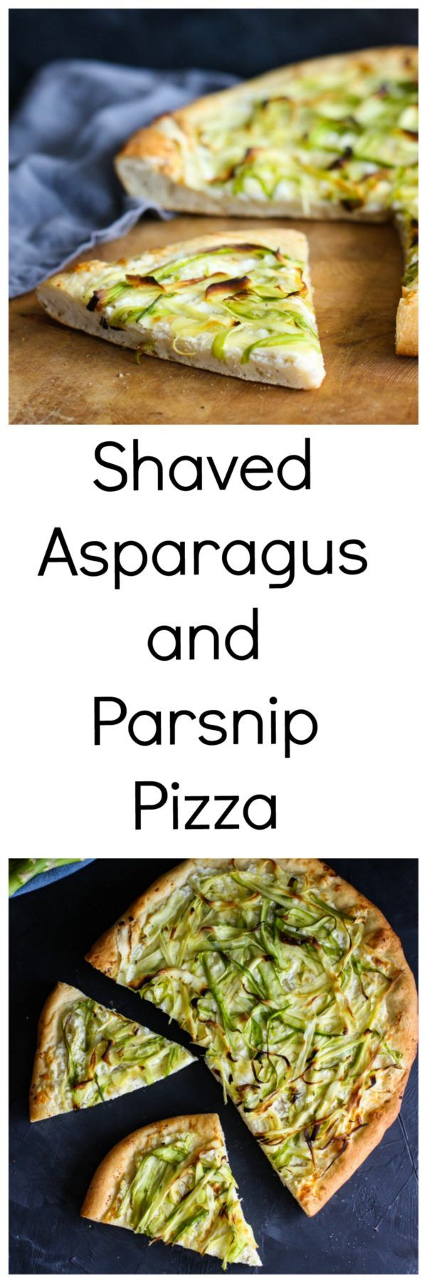 Shaved Asparagus and Parsnip Pizza