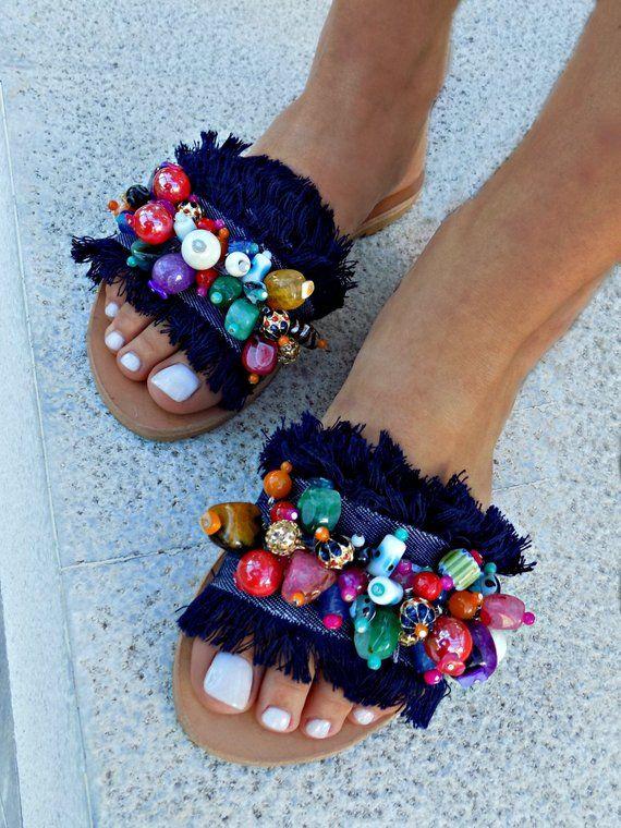 "Greek Leather Sandals Luxurious Sandal Handmade Sandals Boho Sandals ""Maui"" San…"