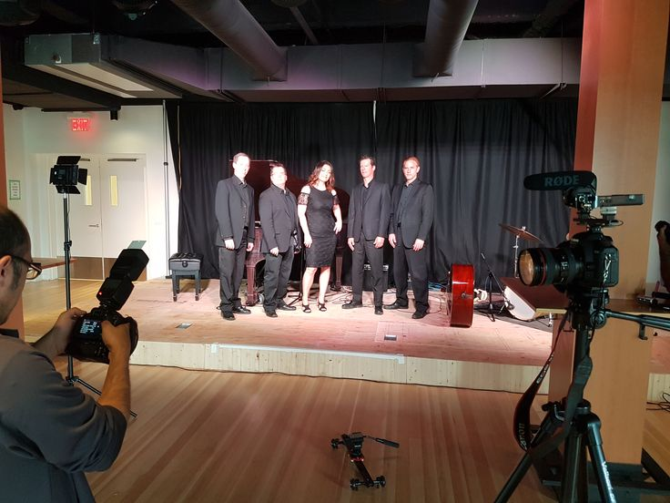 Deanne Matley and the band behind-the-scenes