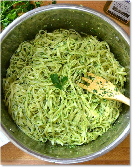 Low FODMAP Basil and parsley-dressed pasta - gluten free http://www.ibssano.com/low_fodmap_recipe_basil_parsley_recipe.html