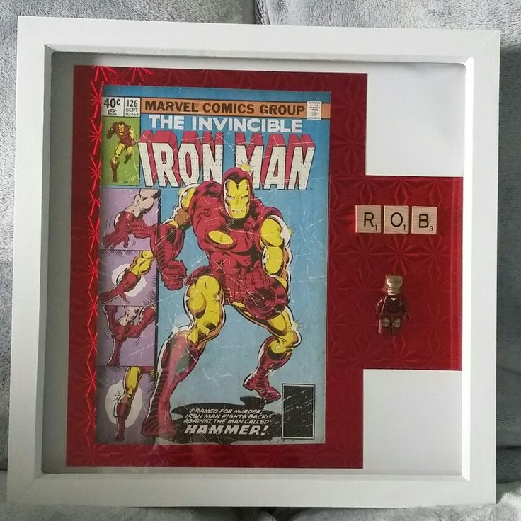 Ironman scrabble/Lego Art picture