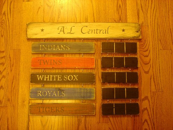 AL Central Standings board Minnesota Twins by MyRusticBoardSigns, $79.00