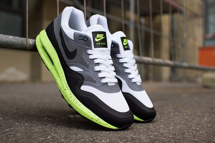 buy popular 28ee7 f188e ... Green Black) Nike – Air Max Lunar 1 (white black volt) Sneakers  Pinterest Air ...