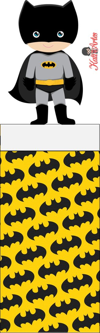 Batman Free Printable Original Nuggets Wrappers.