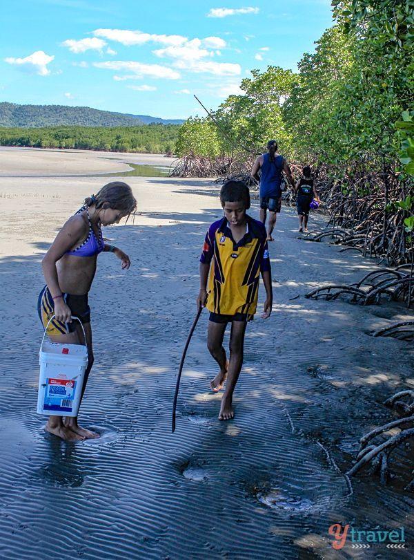 Hunting mud crabs in North Queensland, Australia
