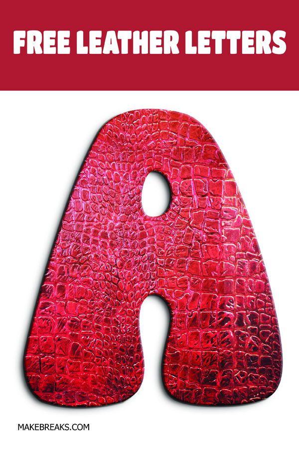 Free Leather Effect Printable Alphabet | Free Printable